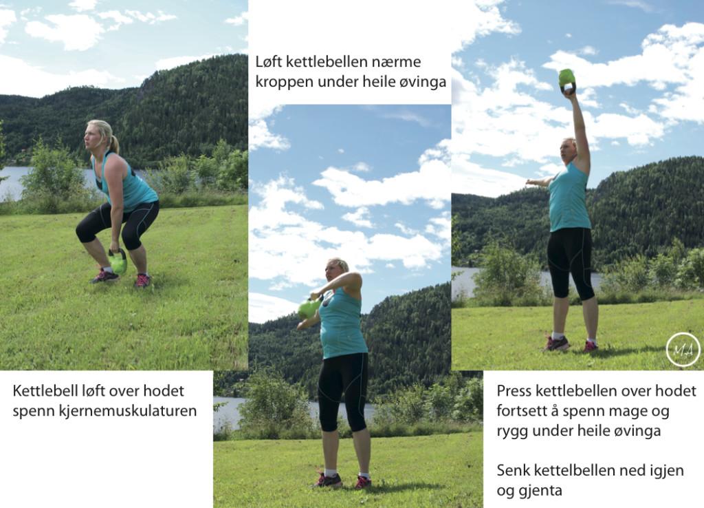 kettlebellsøvelser, trening jenter, styrketrening, utetrening