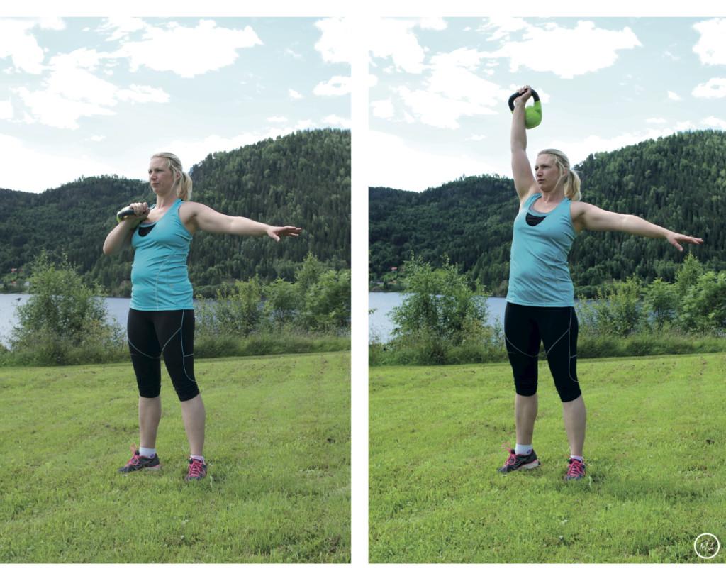 Kettlebellspress, utetrening, trening i naturen