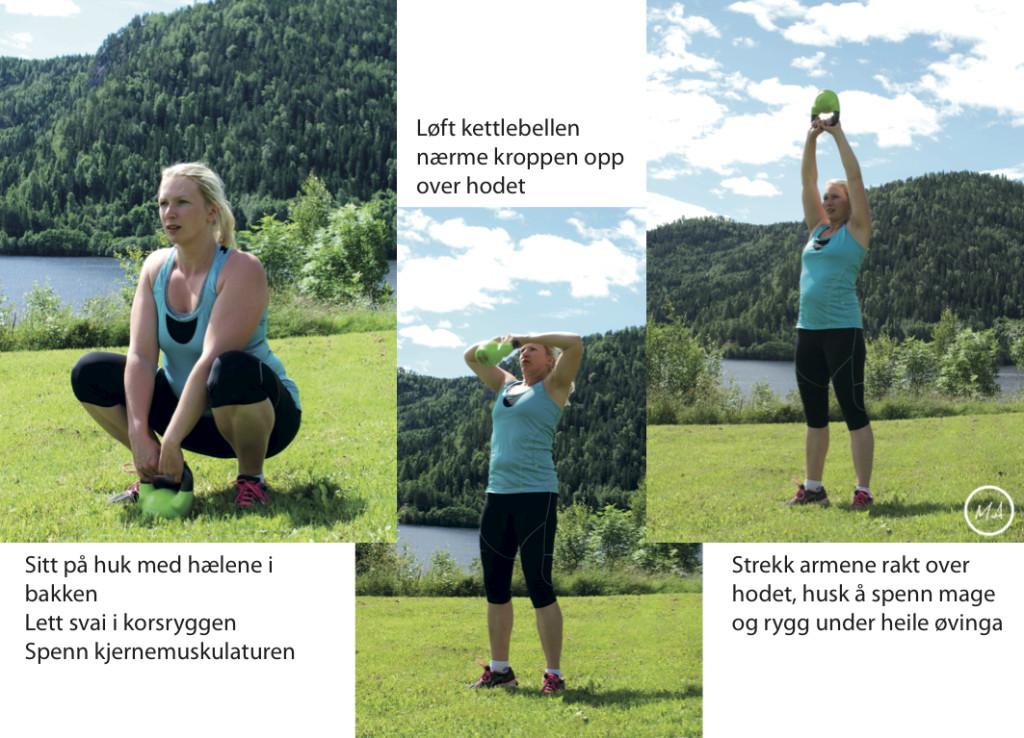 kettlebellstrening, utetrening, natur, sommer